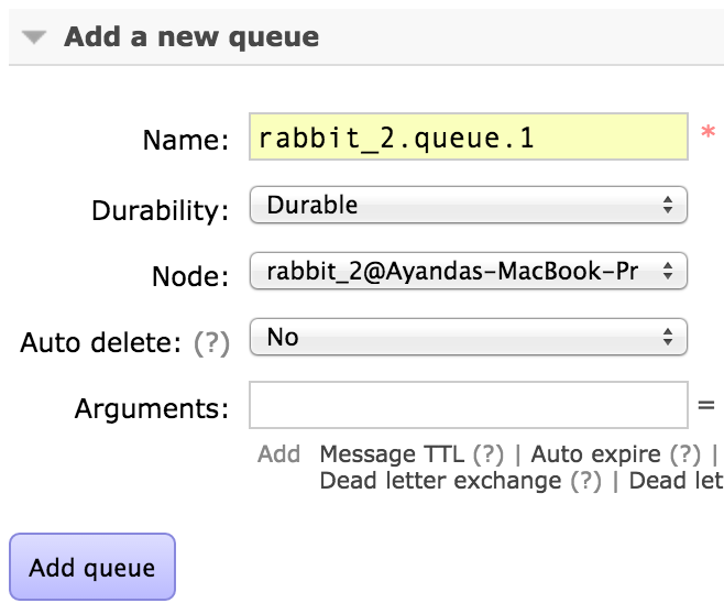 Rabbit_2 hostname queues