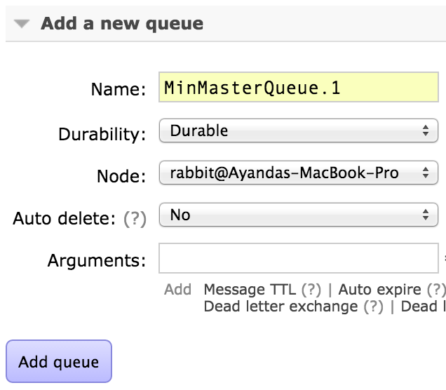 RabbitMQ MinMaster Queue